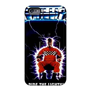 Shockproof Cell-phone Hard Covers For Iphone 6 (ngd5245mXzo) Allow Personal Design HD Metallica Ride The Lightning Band Series