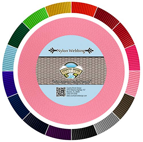 Country Brook Design - Pink 1 1/2 Inch Heavy Nylon Webbing (5 Yards)