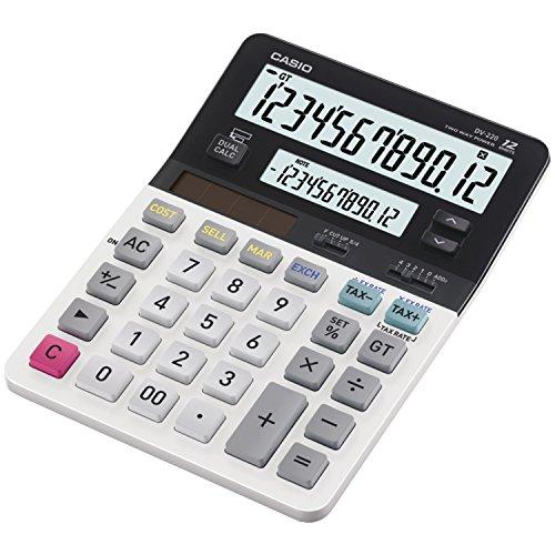 Casio DV-220 Escritorio Display calculator Negro, Blanco - Calculadora (Escritorio, Pantalla de calculadora, 12 dígitos,...