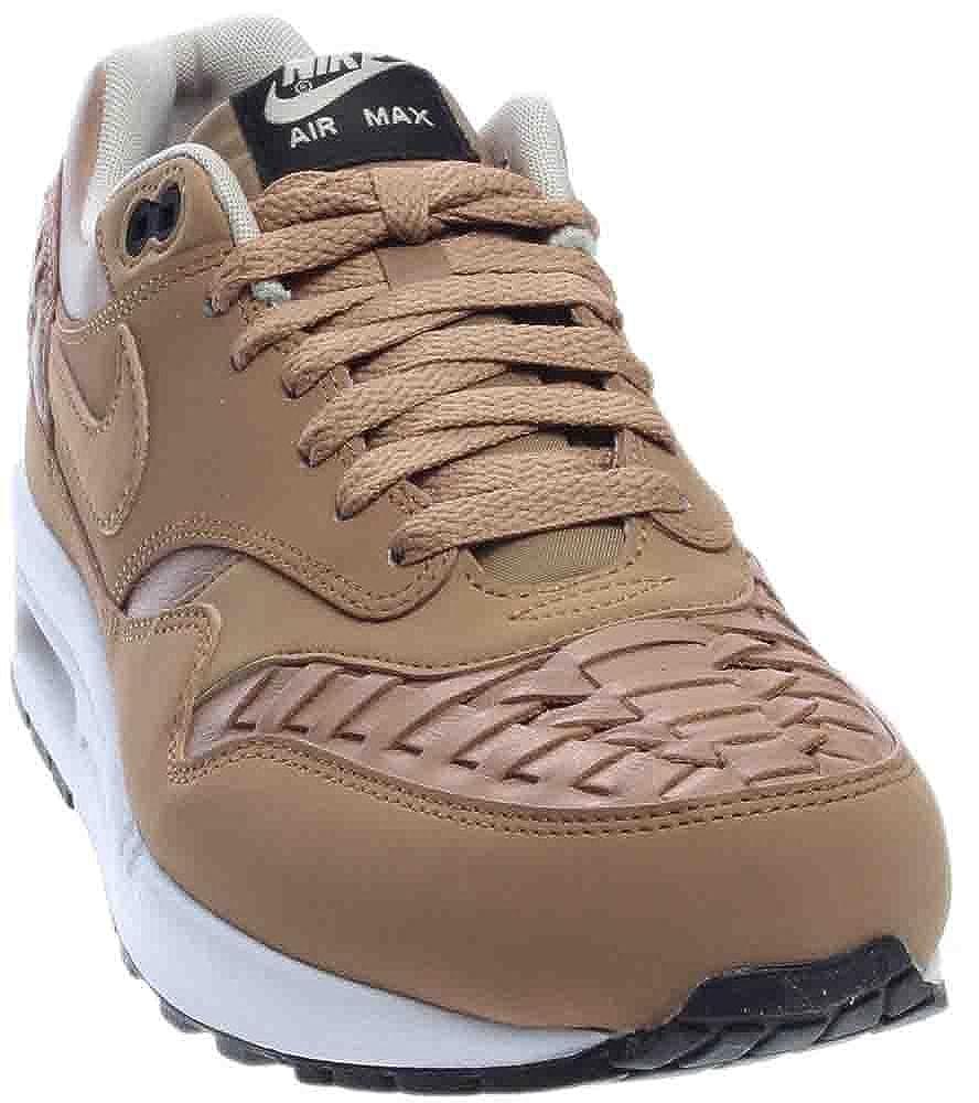 super popular e1077 752d8 Amazon.com   NIKE Air Max 1 Woven Men s Shoes Pale Shale Black 725232-200    Road Running