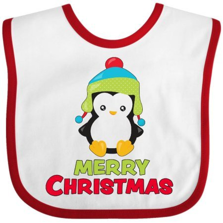 [Inktastic Merry Christmas Baby Bib holiday children penguin kids hat scarf winter holly santa presents gifts bow tie dancing reindeer costume gift clothing] (Reindeer Infant Costumes)