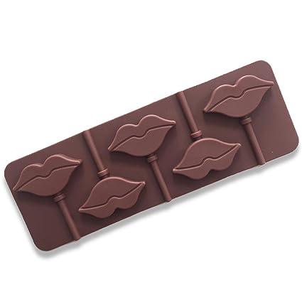 Conjunto de moldes de silicona de 5 moldes para el cuidado de la salud Muffins Labios