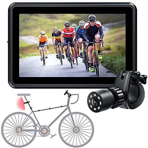 Espejo para bicicleta, cámara de visión trasera, c/ pantalla