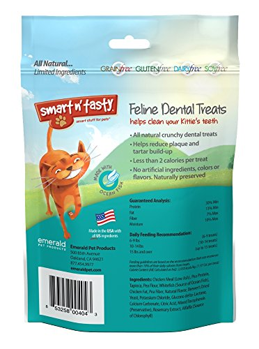 Smart-n-Tasty-Cat-Ocean-Fish-Dental-Grain-Free-Treats-3-Ounce