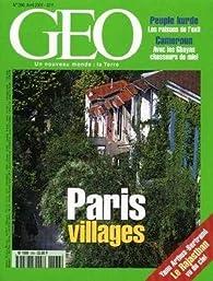 Géo [n° 266. avril 2001] Paris, villages par Geo magazine