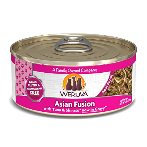 Weruva Classic Cat Food, Asian Fusion With Tuna Red Meat & Shirasu In Aspic, 5.5Oz Can (Pack Of 24)