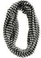 Echo Design Black / Grey Stripe Iridescent Women's Scarf One Size