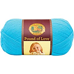 Lion Brand Yarn 550-148 Pound of Love Yarn, Turquoise, 16oz