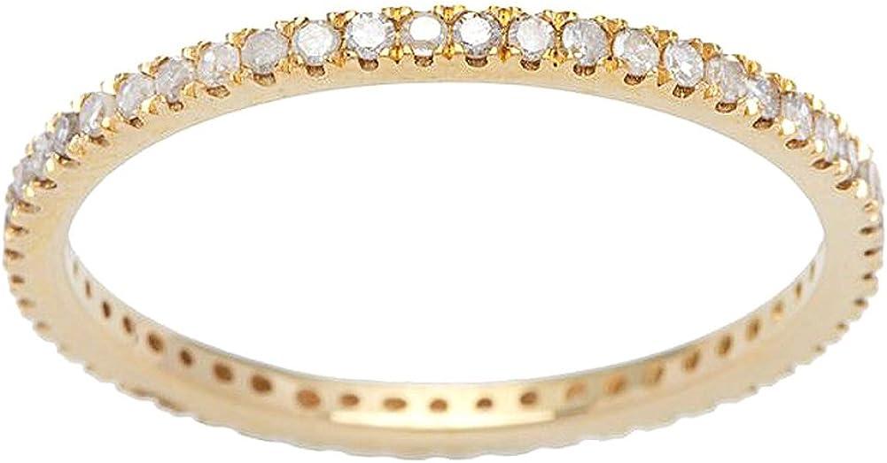 Instagems 10k Yellow Gold Eternity Diamond Wedding Band 1//3 cttw, I-J Color, I2-I3 Clarity