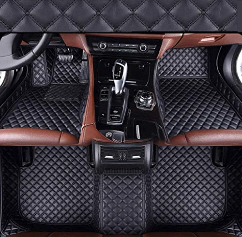 Custom Car Floor Mats for Hummer H2 H3 2008 Luxury Leather Waterproof Anti-Skid Full Coverage Front Mat and Rear mat/Set (Black) (Hummer H2 H3)