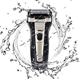 Men's Rechargeable Electric Foil Razor shaver for Men with USB Fast Charging LCD Display, Cordless Professional Wet/Dry Waterproof Travel Foil Razor Cordless for Men