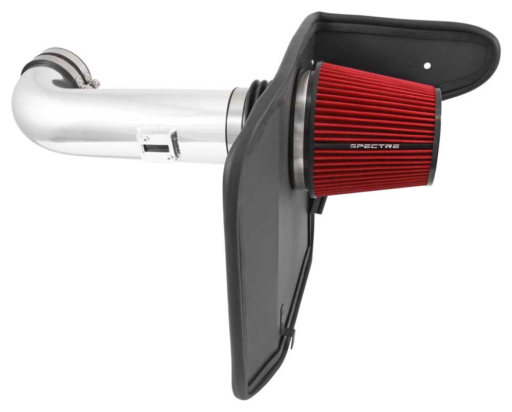Spectre Performance Air Intake Kit with Washable Air Filter: 2010-2015 Chevy Camaro SS, 6.2L V8,  Red Oiled Filter with Polished Aluminum Tube, SPE-9908 by Spectre Performance