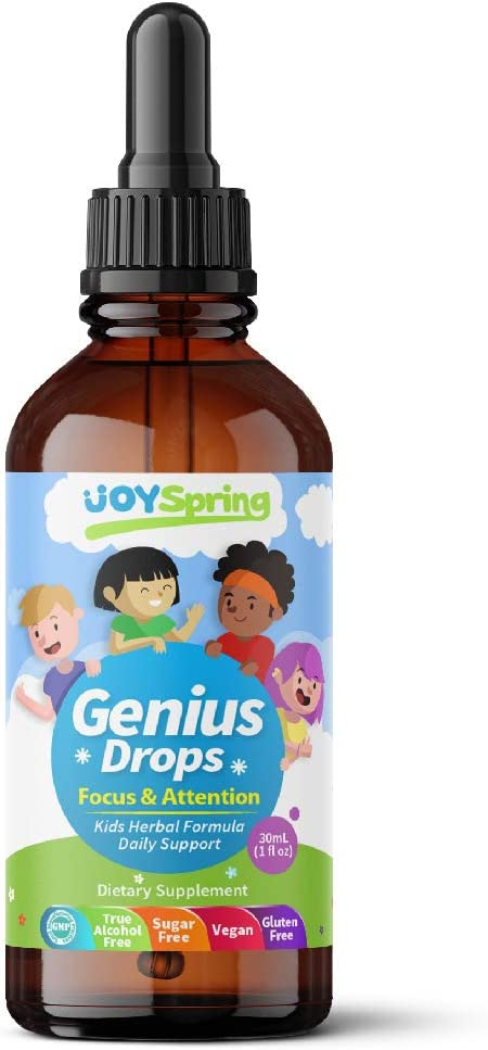 Best Natural Focus Supplement for Kids, Supports Healthy Brain Function to Improve Concentration & Attention for School, Great Tasting Liquid Calming Supplement, Made from 100% Herbs: Health & Personal Care