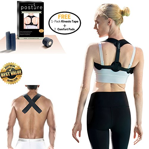 ure Corrector and Shoulder Support for Women & Men & Teen to Prevent Slouching and Relieve Back & Neck Pain | Bonus 2
