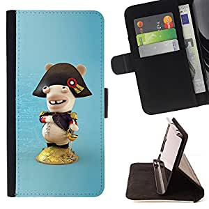 DEVIL CASE - FOR HTC DESIRE 816 - Funny Figure - Style PU Leather Case Wallet Flip Stand Flap Closure Cover