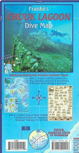 Chuuk  Truk  Lagoon Dive And Wreck Map And Operation Hailstone Franko Maps Waterproof Map