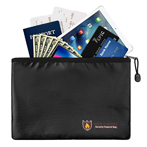 Non Box Waterproof (Fireproof Document Bags A4 Size, Non-Itchy Silicone Coated Fire Resistant Money Bag Fireproof Waterproof Safe Storage Bag for Money, Documents, Jewelry, Passport, Important Documents Storage On Sell)