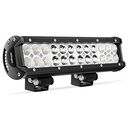 Nilight LED Barra de luz 30,5cm 72W LED Foco de luz de Trabajo LED Combo Luces de Inundación LED Barra Luces de Conducir...