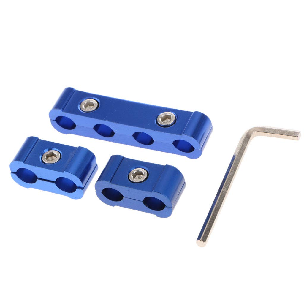 non-brand 3 Unids Motor Buj/ías Separador de Ignici/ón Separador de Cable Abrazaderas 8 MM 10 MM 9 MM Azul