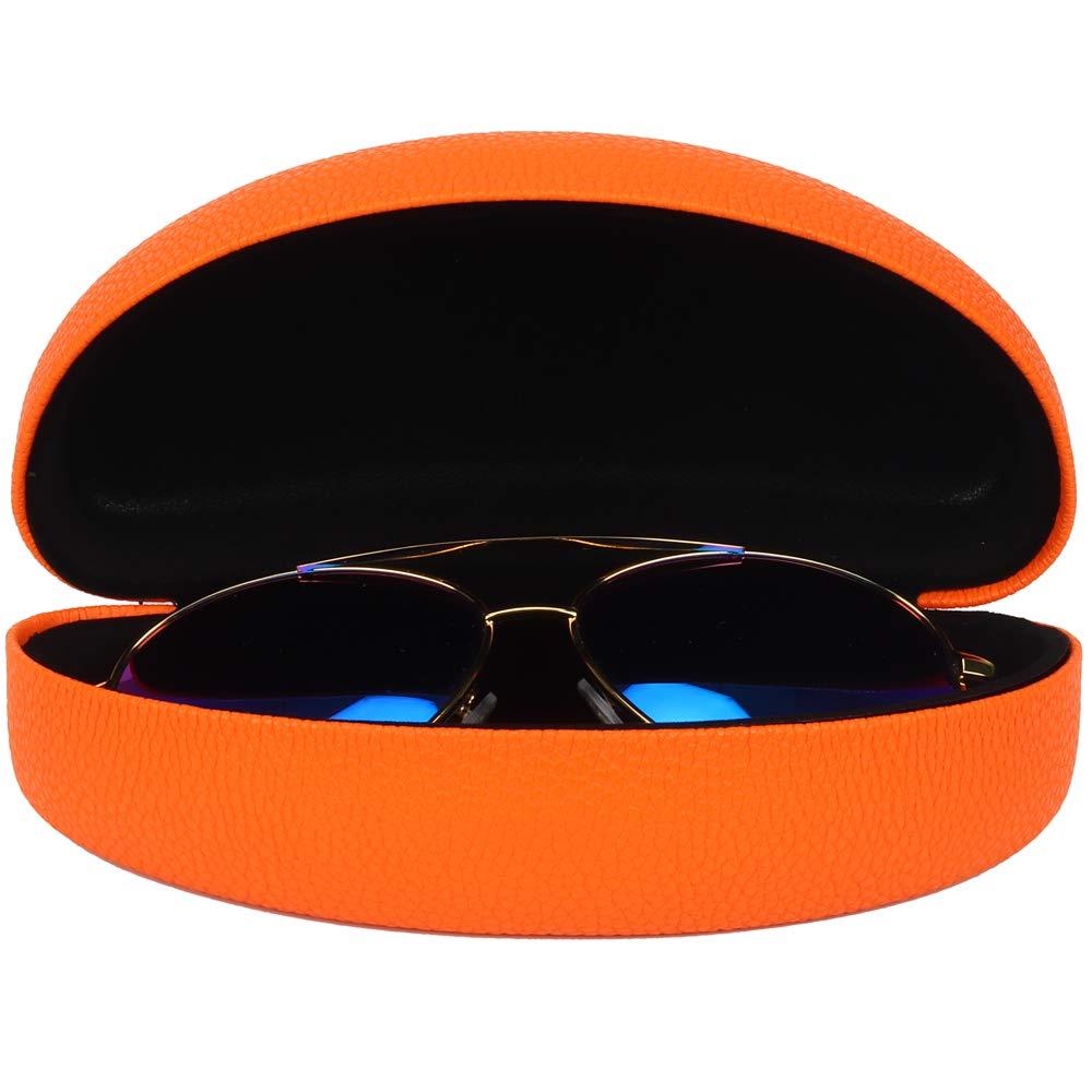Free Glasses Cloth Molshine Hard Shell Sunglasses Case,Classic Extra Large Case for Oversized Sunglasses and Eyeglasses