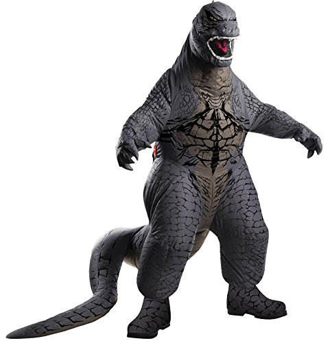 UHC Men's Classic Movie Monster Godzilla Blowup Jumpsuit Adult Halloween Costume