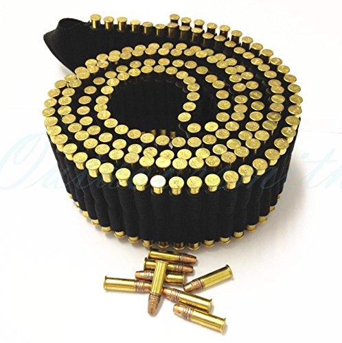[Ultimate Arms Gear Tactical Stealth 180 Round Rifle Cartridge Holder, 60-Inch, Black] (Bandolier Belt)