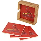 Memory Company MLB St. Louis Cardinals MLB-Slc-2403Square Coaster Set, Multi, One Size