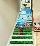 3D Flower Butterfly Forest 750 Stair Risers Decoration Photo Mural Vinyl Decal Wallpaper Murals Wallpaper Mural US Lemon (15x H:18cm x W:94cm (7''x37''))