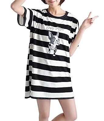 ea11dd10f BESTHOO T-Shirt para Embarazadas Mujer Tops a Capa Lactancia Senora Remeras De  Verano Manga Corta Mujeres Camisetas A Rayas Estampado T-Shirt Larga Suelta   ...