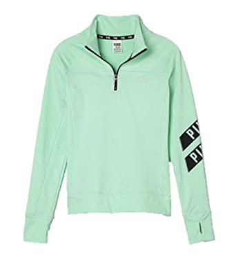 7f4885a781871 Victoria's Secret PINK Ultimate Half-Zip Jacket Large Minty Fresh at ...