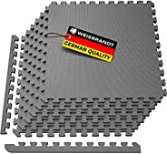WEISBRANDT Puzzle Exercise Workout Mat, EVA Foam Interlocking Tiles, for Gym, MMA, Home, Workshops, Basement,