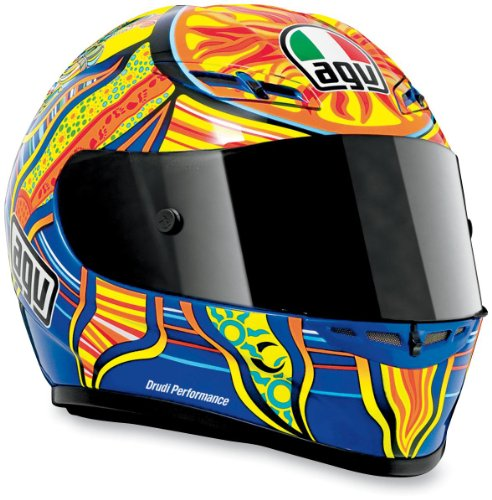 AGV GP-Tech Rossi 5 Continents Helmet , Size: 3XL, Distinct Name: Rossi 5 Continents, Helmet Type: Full-face Helmets, Helmet Category: Street, Primary Color: Red, Gender: Mens/Unisex XF0101-3457