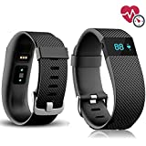 Fitness Tracker, SQDeal Universal Sleep & Heart Rate Monitor Calorie Counter Pedometer Sport Activity Tracker Smart Watch Band for iPhone Samsung LG HTC Smartphone