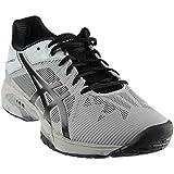 ASICS Mens Gel-Solution Speed 3 Sneaker, Mid Grey/Black, Size 8