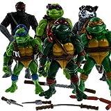 Classic Collection- 6PC TMNT Teenage Mutant Ninja Turtles Figure Action Toy Set