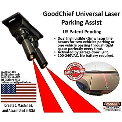 GoodChief Universal Garage Laser Line Parking Assist – an Innovative Way to Easily Park and Guide with Dual Laser Lines Projected on Your Vehicle. Find The Difference on Our Video: Home Improvement