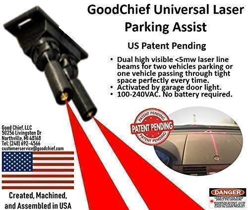 - GoodChief Universal Garage Laser Line Parking Assist - an Innovative Way to Easily Park and Guide with Dual Laser Lines Projected on Your Vehicle. Find The Difference on Our Video