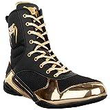 Venum Elite Boxing Shoes - Black/Gold - Size 6