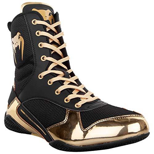 Venum Elite Boxing Shoes - Black/Gold - Size 11 (45)