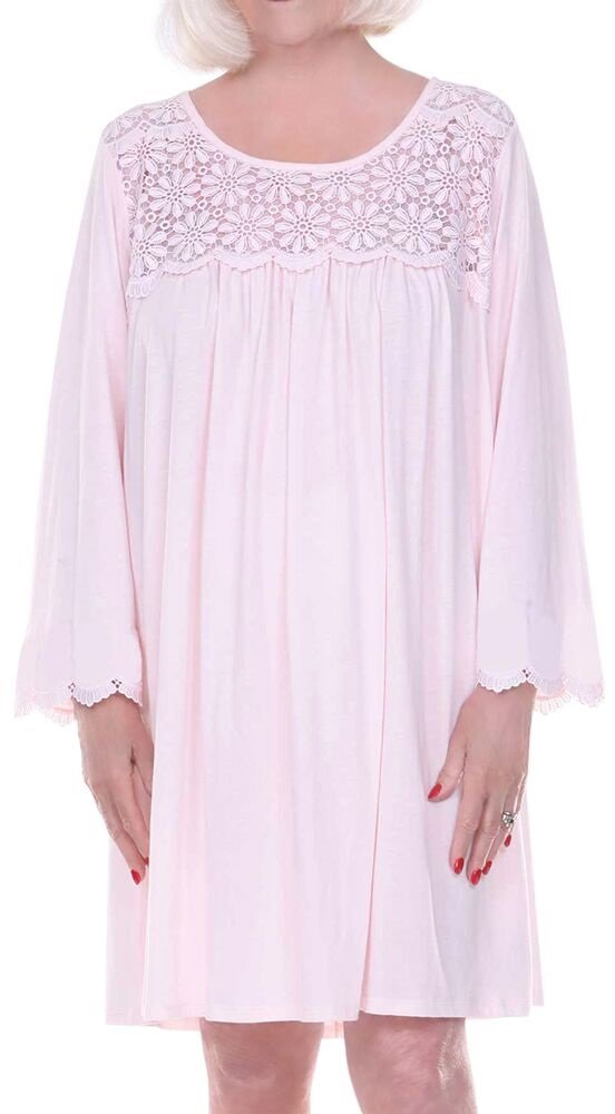 Home Care Line Dignity pajamas Womens Cotton Long sleeve open back hospice nightgown Sz L-XL