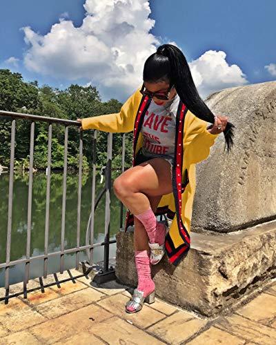 Casual Chaquetas Cardigan Otoño Abalorios Prendas Anchas Larga Outerwear Largos Manga Mujer Ropa Abrigos Exteriores Amarillo Cómodo Primavera 8g4qfw8