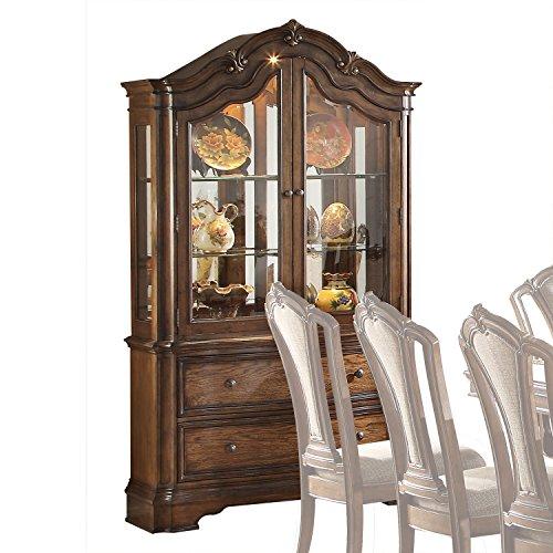 Oak China Hutch (Acme Furniture ACME Valletta Latte Oak Hutch Buffet)