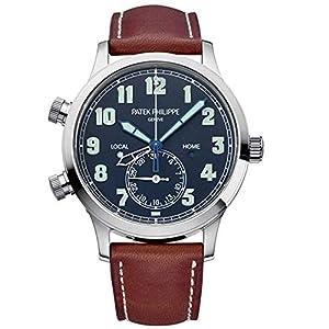 Best Epic Trends 519XueFcNLL._SS300_ Patek Philippe Calatrava Pilot Travel Time Blue Dial Automatic Men's Watch 5524G-001