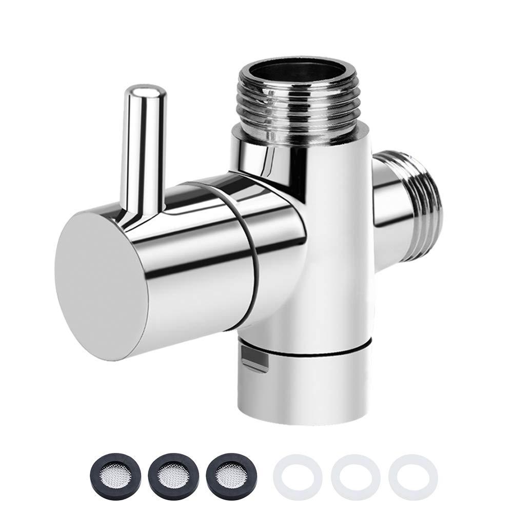 cromado V/álvula de conmutaci/ón SPTwj de 3 v/ías sistema de ducha valve adaptador de v/álvula v/álvula de ducha conmutador de cambio v/álvula de conmutaci/ón de lat/ón macizo G 1//2 pulgadas