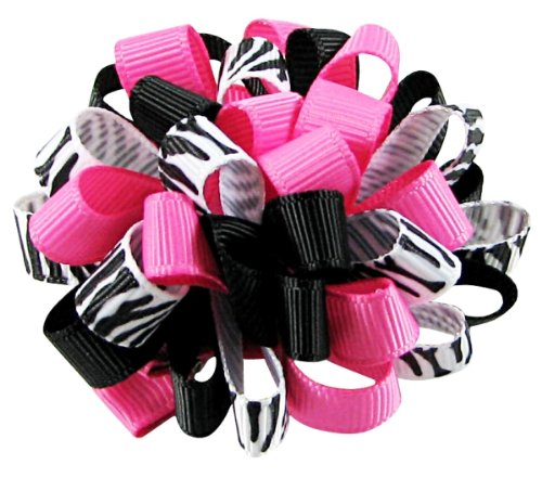 zebra hair clips - 3
