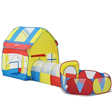 Amazon.com Kids Playhouse Adventure Play Tent Indoor or Outdoor Tunnel Pool 3 Pieces Set - [No Ball] Toys u0026 Games  sc 1 st  Amazon.com & Amazon.com: Kids Playhouse Adventure Play Tent Indoor or Outdoor ...
