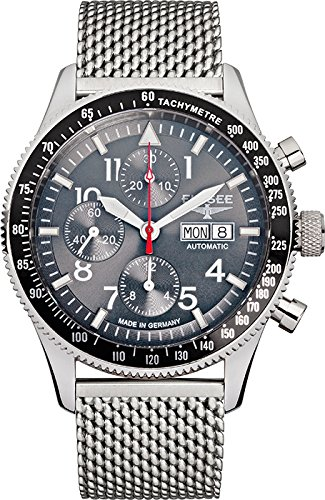 ELYSEE Men's 80530MGREY Executive-Edition Analog Display Automatic Self Wind Silver Watch