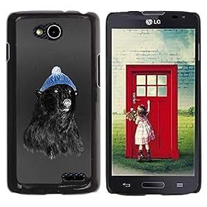 Be Good Phone Accessory // Dura Cáscara cubierta Protectora Caso Carcasa Funda de Protección para LG OPTIMUS L90 / D415 // Hipster Bear