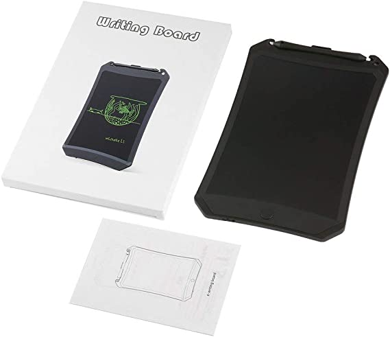 8.5インチLCDディスプレイEライター電子キッズ描画ボード落書きパッドLCD消去タブレット、消去ボタンロック付き(黒)