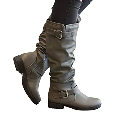 lovely design luxuriant in design variety styles of 2019 Amazon.com: Meilidress Womens Winter Knee High Boots Wide ...